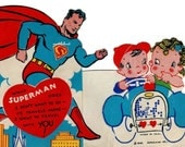1940 Vintage Valentine Superman and Cute Couple DIGITAL DOWNLOAD