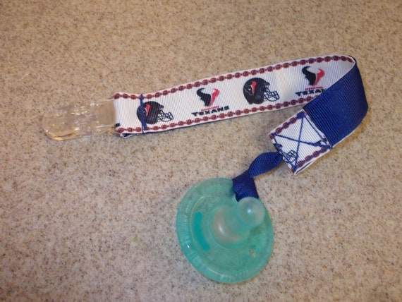 Houston Texans Pacifier Clip