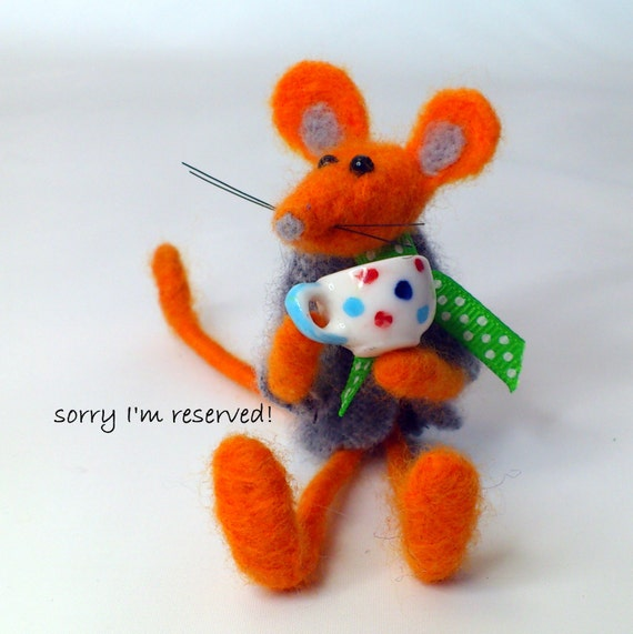 needle felted mouse...Colin