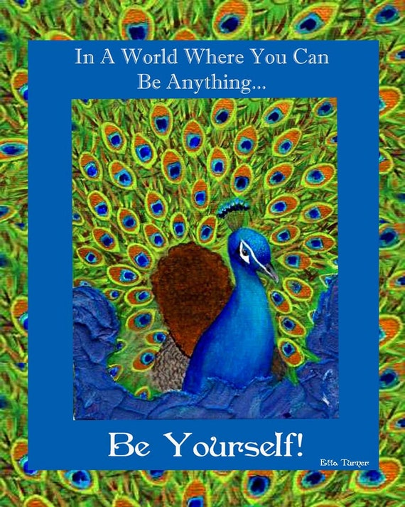 Be Yourself,  An Original 5 x 7 Mixed Media Print by Charlotte Phillips