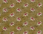 Baum Textile gold floral reproduction fabric