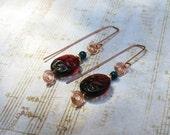 Sedona czech glass and copper earrings