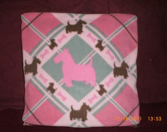 Scottie Fleece Pillow