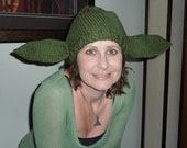 Knitted Beanie Hat Yoda Starwars Adult