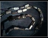 Shell Black Shimmering Shell Necklace....Long.....