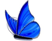 Butterfly Stained Glass Sun Catcher Choice of Colors