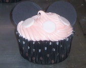 Minnie Mouse ears and White Polka Dots - Fondant