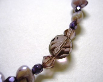 Shades of Lilac Necklace with Matching Earrings
