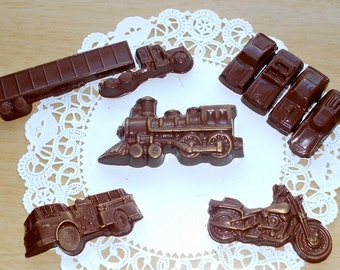 Chocolate Cars, truck and train - Boys Set - Chocolate Motorcycle - Solid Chocolate