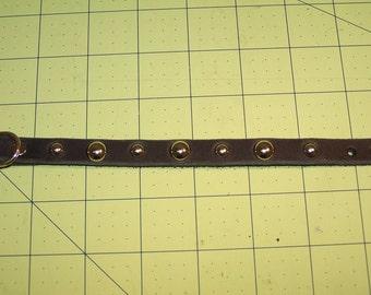 Studded leather collar bracelet- handmade