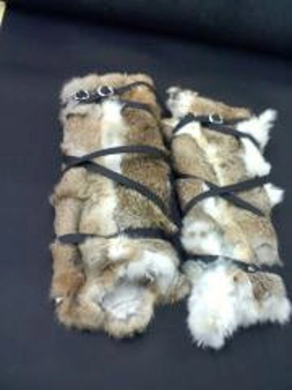 Rabbit Fur Leg Wraps- other colors available (made to order)