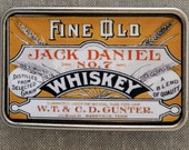 Vintage Jack Daniel Whiskey Label Buckle