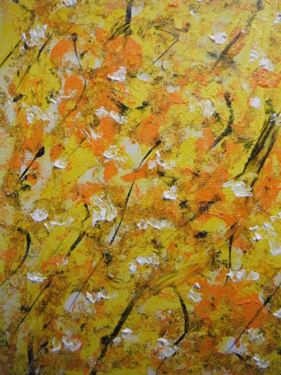 Original Abstract Acrylic on Canvas Board