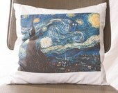 Doctor Who Pillow Tardis Starry Night Throw Throw Pillow