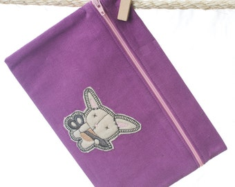 Zipper Pouch - Crafty Bunny