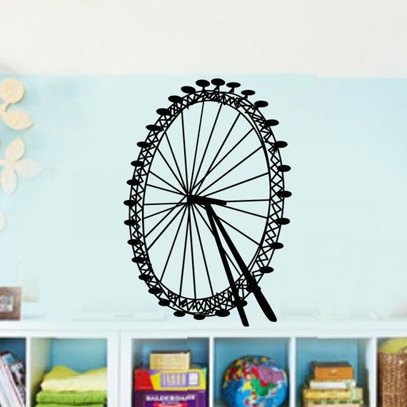 Play Room Carnival Fair Ferris Wheel  Vinyl Wall Lettering Decal Kids Room