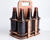 The 6 Packer - a lasercut 6 pack glass bottle holder