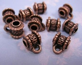 20pc antique copper plated metal connector/bails-797