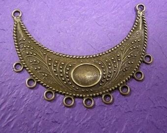 3pc antique bronze large metal connectors-1577