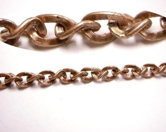 5 feet antique copper 5x3.5mm side twisted chain-3857
