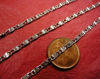 5 feet antique silver Myriad Iron Chain-3616