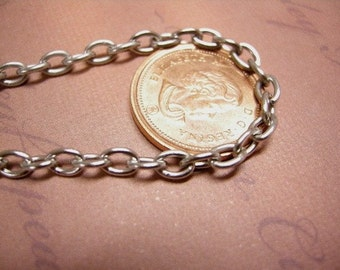 5 feet 5x3.5mm platina look chain-4041