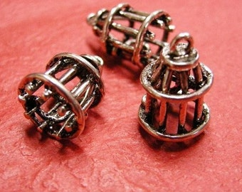 4pc antique silver nickel free bird cage pendant-3356x2