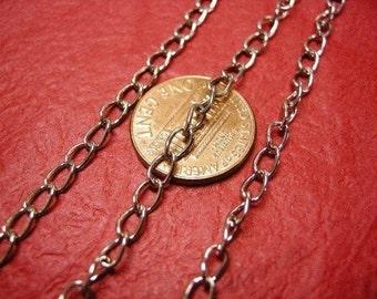 5 feet 6x3.5mm antique silver metal chain-3440