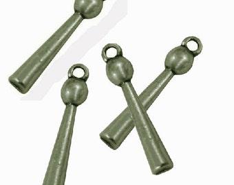 10pc antique bronze metal pendant-1431