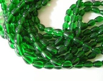 20pc 11x8mm teardrop glass beads-1636