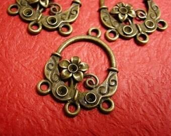 4pc antique bronze chandelier component-3044