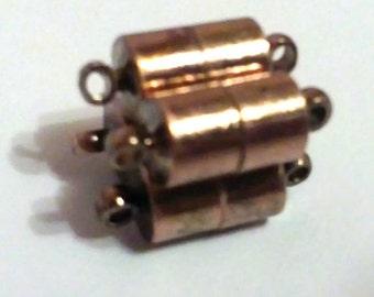 4 sets antique copper brass magnatic clasps-3806F