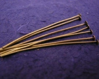 100 pc 50mm antique bronze head pins-5523