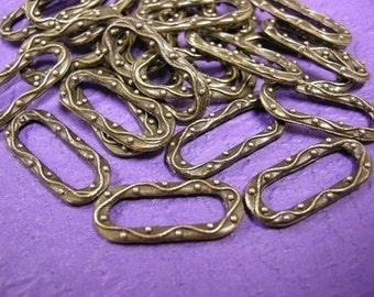 8pcs Antique Bronze finish metal fancy connectors-1593