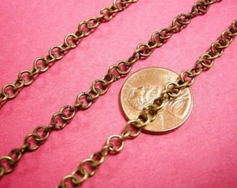 5 feet 4.5mm antique bronze plated chain-2473