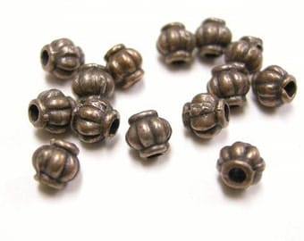 50pc 4mm antique copper fancy metal beads-103