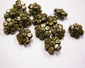 12pc 9mm antique bronze metal bead-4388