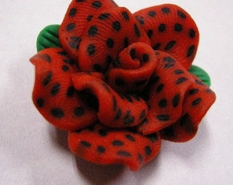 4pc Handmade Polymer Clay Flower Beads-4108