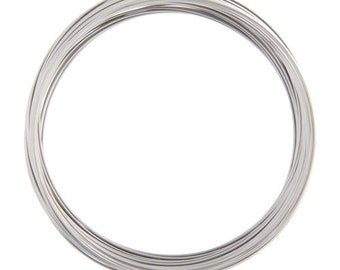 11.5cm nickel look memory wire 25 loops-5218