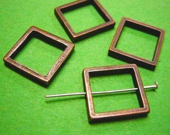6pc 20mm antique copper square connector-5249