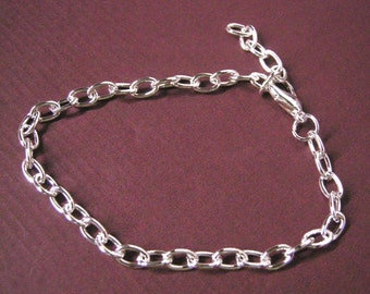 4 sets of silver finish bracelet making with lobster clasps-5351