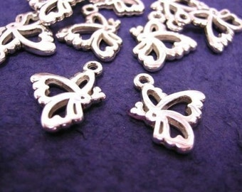 24pc silver look acrylic butterfly charm-998x2