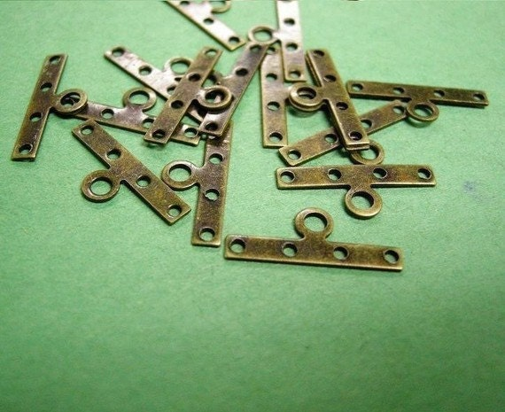 12pc antique bronze nickel free metal spacer-2430