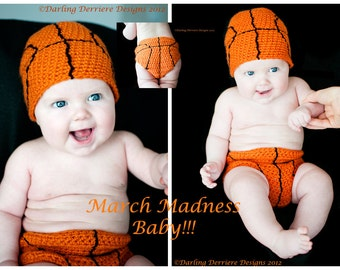 Instant Download PDF Basketball Hat and Diaper Cover Crochet Pattern