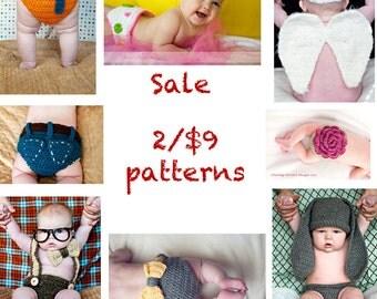 Sale- 2 Crochet Patterns for 9 Dollars