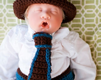 PDF Instant Download Top Hat, Tie, and Button Diaper Cover Crochet Pattern