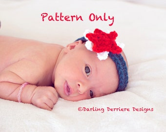 Instant Download PDF Baby Star Headband Pattern