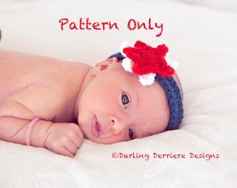 Instant Download PDF Baby Star Headband Pattern