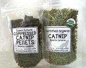 Mini Catnip Sampler Organic Catnip and Catnip Pellets