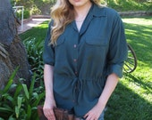 Vintage 1980s Forest Green Tunic